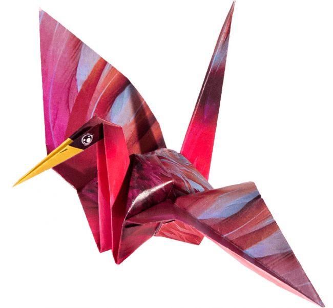 ===Grullas de papel Origami=== Grulla-cologami2-650x601