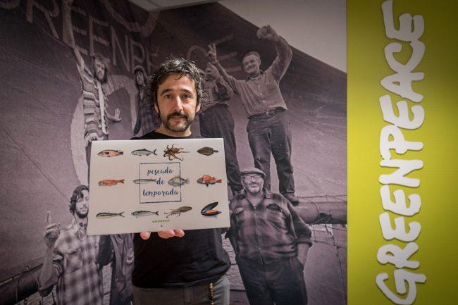 El chef Diego Guerrero, en la presentación del calendario © Greenpeace/Pedro Armestre