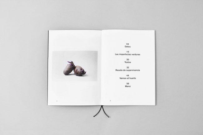 verduras en el interior de la revista Imperfecta belleza