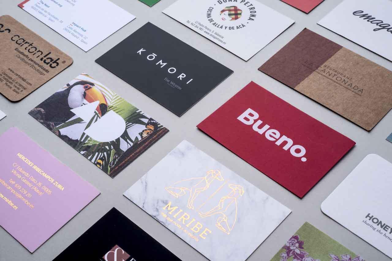 ejemplos tarjetas de Impresum