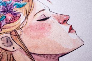 Ilustración de chica de Esther Gili