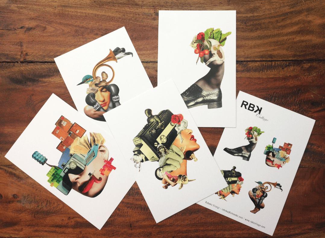 postales impresas de RBKCollage