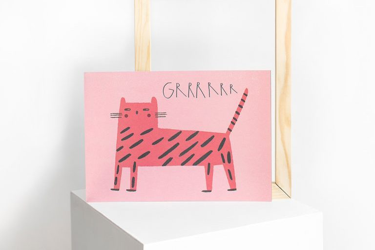 láminas ilustradas con tigre