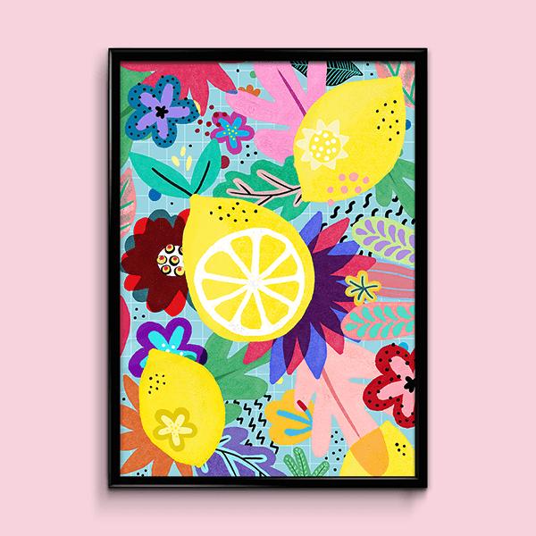lámina de limones