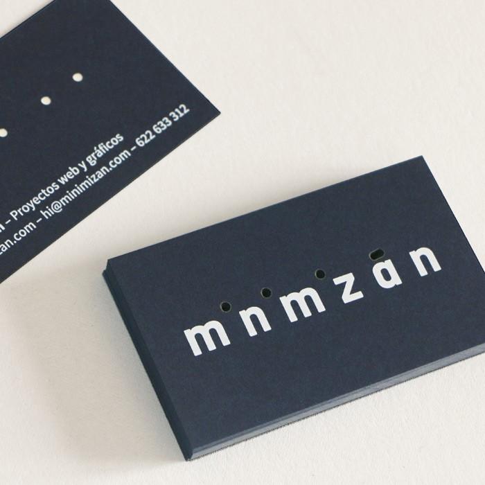 tarjetas de visita especiales realizadas para estudio minimizán