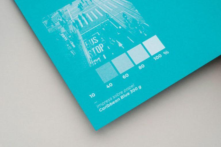 tono caribbean blue para papel