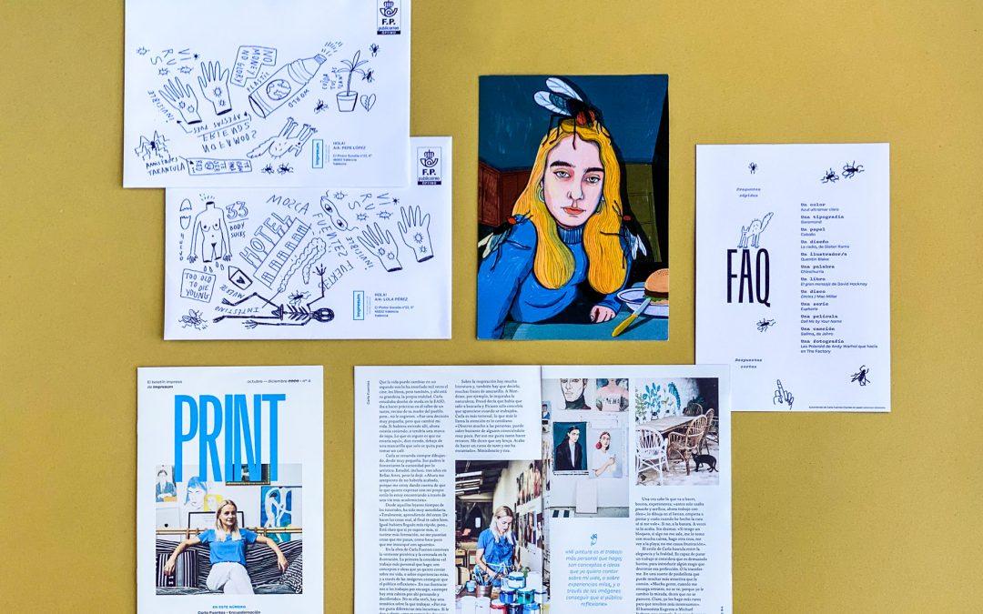 Carla Fuentes y sus pinceles, protagonistas de PRINT 4