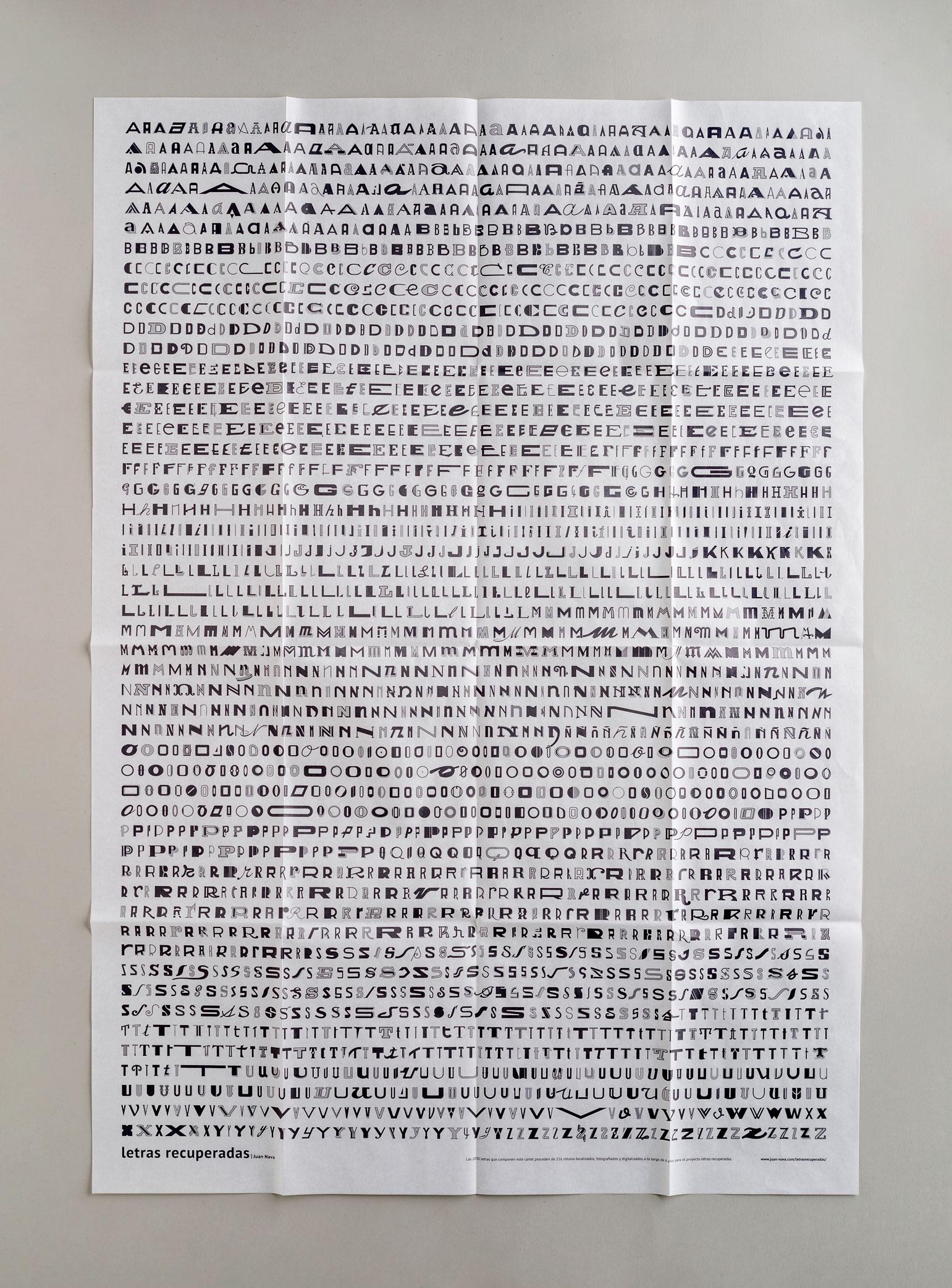 Impresión de cartel Letras 'Recuperadas' de Juan Nava