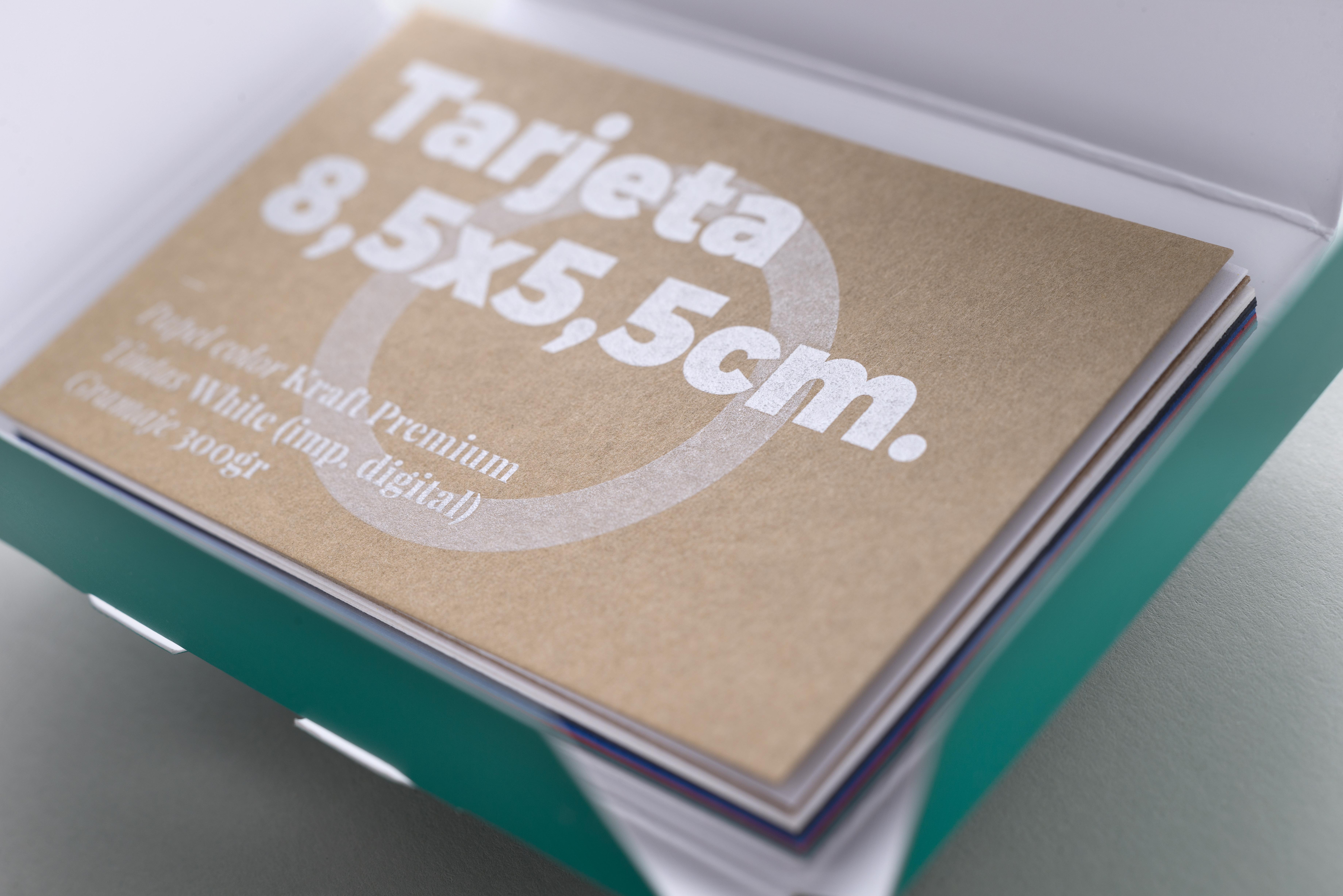 tarjetas de visita en papel